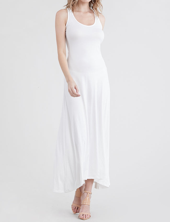 OFFWHITE | AWDMD0190 Scooped Neckline Tanktop Style Comfortable Maxi Dress