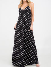 Spaghetti Strap Maxi Dress with Pockets
