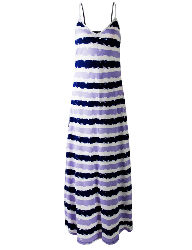 BLUETIEDYE | AWDMD238 Camisole Neckline Maxi Dress