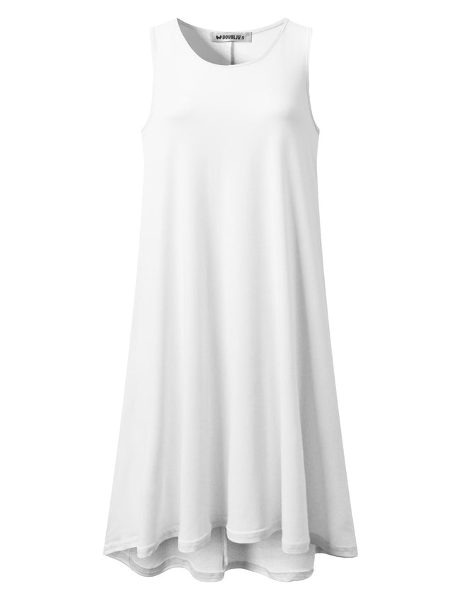 Round Neck Loose Fitting Flared Short Dress