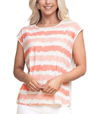 CONTRAST BACK SHORT SLEEVE TOP