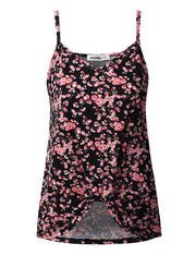 Womens sleeveless camisole neckline casual top with knoted hem