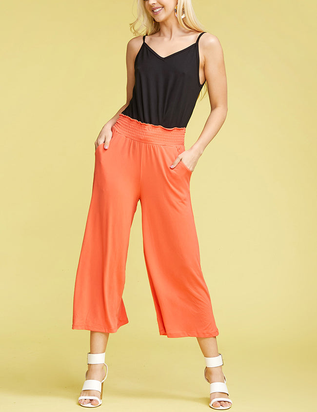 CORAL | CWBLP105 Clam Digger Bell Bottoms Comfortable Pants