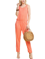 CORAL | CWDMD134 Scooped Neck Jumpsuit