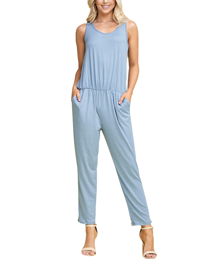 DENIMBLUE | CWDMD134 Scooped Neck Jumpsuit