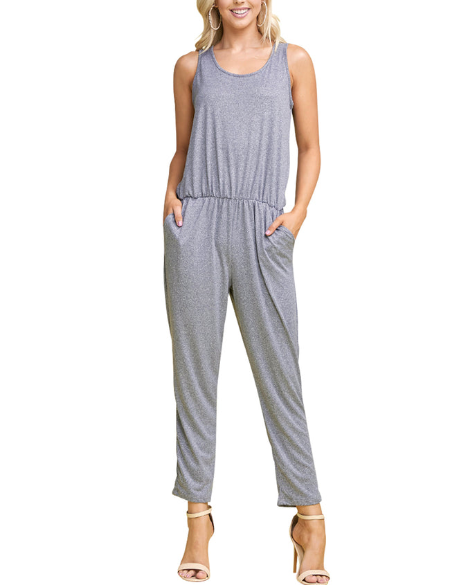 HGREY | CWDMD134 Scooped Neck Jumpsuit