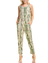 TAUPEOLIVETIEDYE | CWDMD134 Scooped Neck Jumpsuit