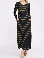 V-Neck Loose Fitting Maxi Dress