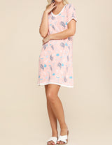 BLUSHTEALOFFWHITE | CWDSD514 V-Neck Stylish Layered Short Dress