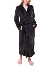 Relexed Fit Soft Long Robe With Waist Tie Sleepwear