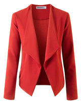 Wide Shawl Lapel Open Font Blazer