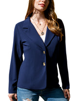 2 Button Notched Blazer