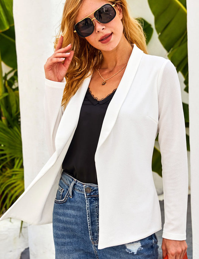 Long Sleeve Tailored With Draped Blazer