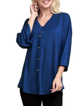3/4 Kimono Sleeve Available Tied Front Cardigan