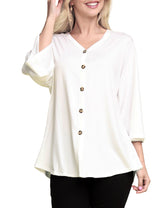 Womens 3/4 kimono sleeve available tied front cardigan