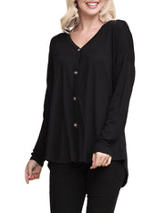 Womens long sleeve avaiable tied hem button down cardigan