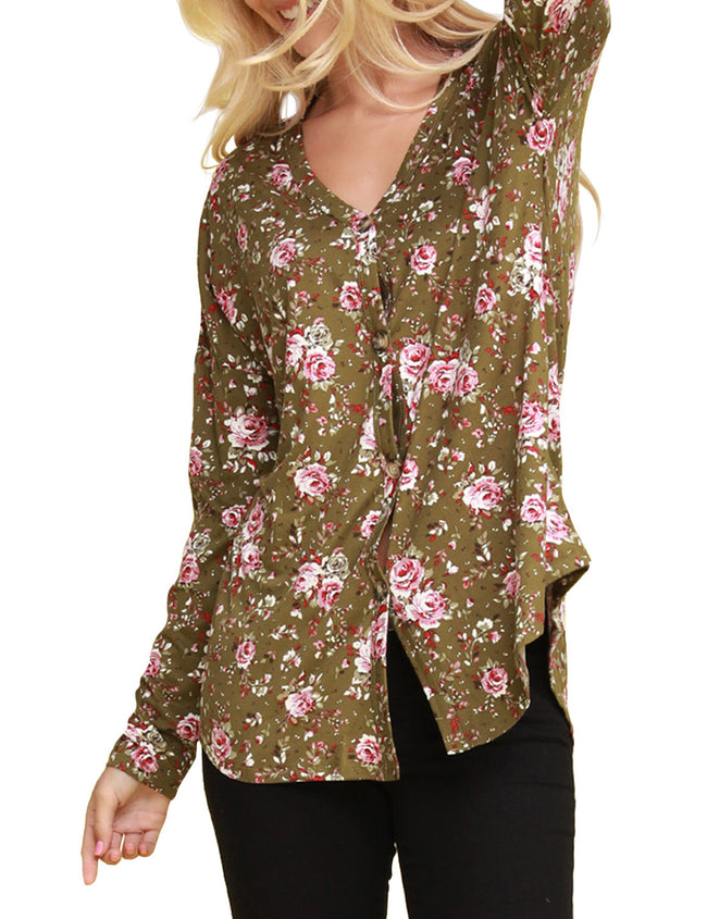 Avaiable Tied Hem Button Down Cardigan