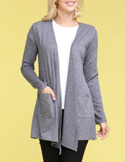 HINDIGO | CWOCAL102 Open Front Draped Cardigan