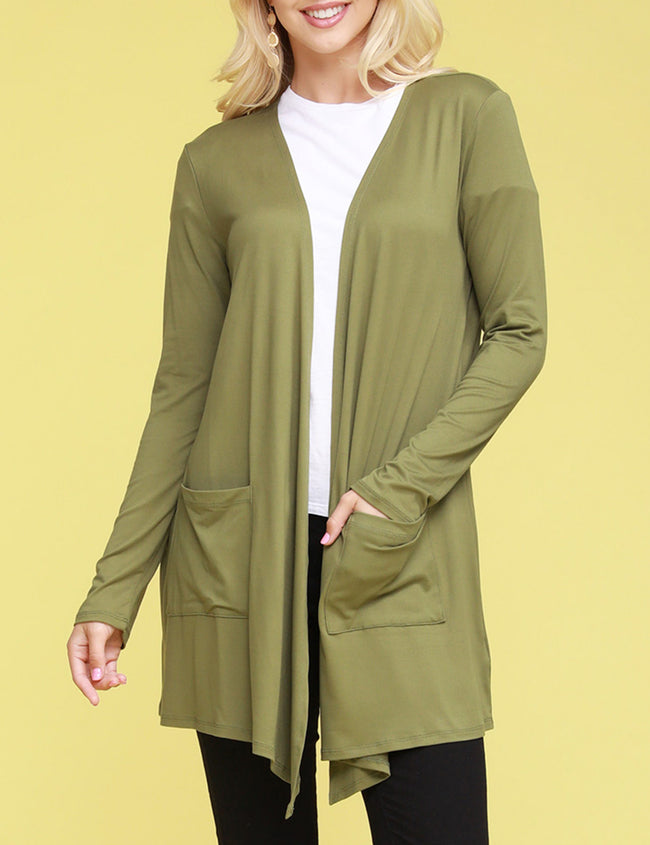 Open Front Draped Cardigan