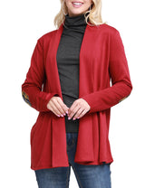 BURGUNDY | CWOCAL105 Open Front Cardigan
