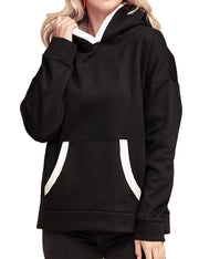 KANGAROO POCKET FRENCH TERRY SWEATSHIRTS WITH SHERPA LINED HOODIE