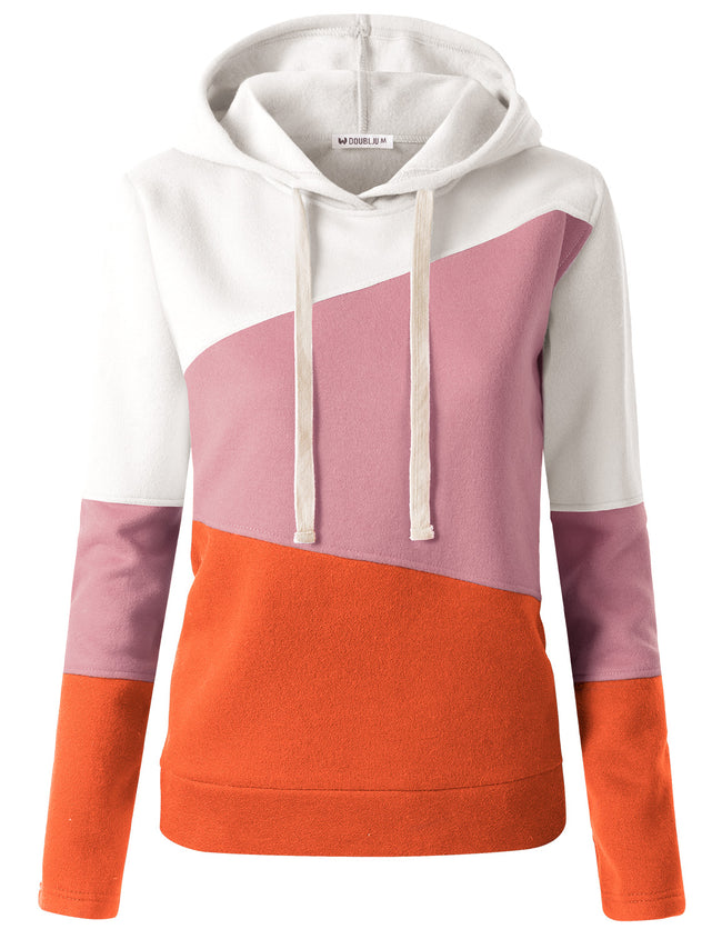 3 Color Block Hooded Sweatshirt