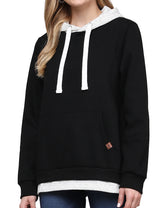 2 Color Layered Pullover Hoodie