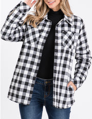 BLACKWHITEPL | CWOJA155 Button Closure Loose Fitting Jacket