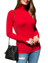 Buttoned Turtleneck Pullover Knit Sweater