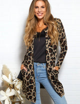 Long Sleeve Notched Collar Sweater Cardigan