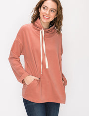 Stylish Turtleneck Loose Fitting Hoodie