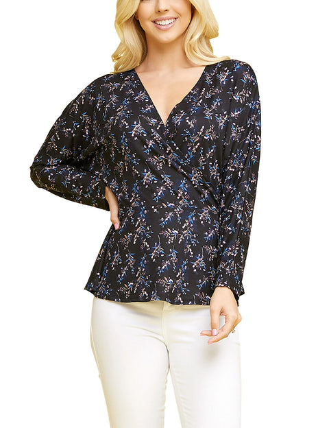 Surplice Neckline Loose Fitting Stylish Top
