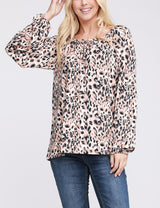 Elastic Closure Knotted Round Neckline Loose Fitting Lovely Top