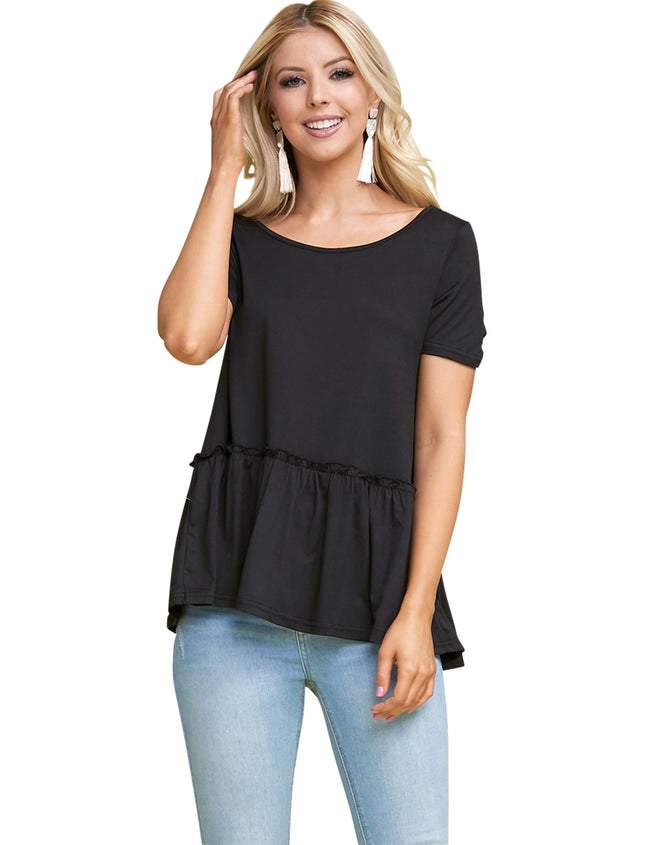 Boat Neckline Loose Fitting Lovely Top