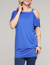 One-Shoulder Loose Fitting Casual Tunic Top