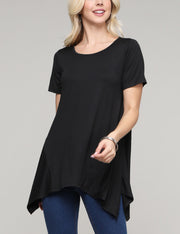 Round Neckline Loose Fitting Casual Top