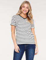 Banded V-Neck Comfortable Casual Top