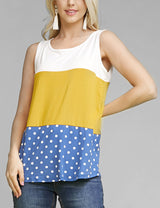 Sleeveless Color Block Top