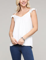 Off Shoulder Cap Sleeve Decollete Neckline Loose Fitting Light Casual Top