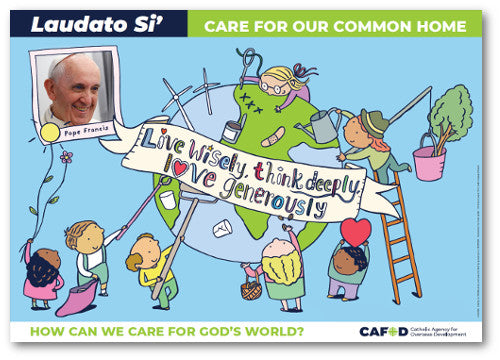 Laudato Si' poster A2 for Primary schools