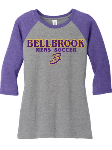 BHS Mens Soccer Ladies 3/4 Sleeve Tri-Blend Shirt