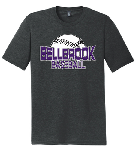 Bellbrook Middle School Baseball Tri Blend Shirt - Black Frost