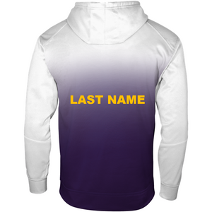 BHS Women's Soccer Adult Moisture Management Ombre Hoodie with Player Name on Back