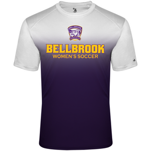 BHS Women's Soccer Adult White/Purple Ombre Shirt