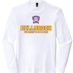 Bellbrook Women's Soccer Adult Tri Blend White Long Sleeve