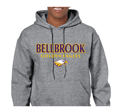 Copy of Bellbrook Middle School Football Graphite Heather Hoodie