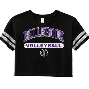 Bellbrook Middle School Volleyball Ladies Cropped Shirt