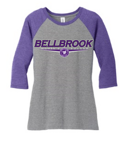 BHS Women's Soccer Ladies Cut Tri-Blend 3/4 Sleeve Raglan Shirt