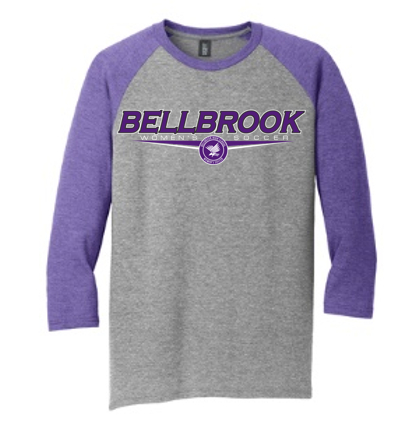 BHS Women's Soccer Adult Tri-Blend 3/4 Sleeve Raglan Shirt