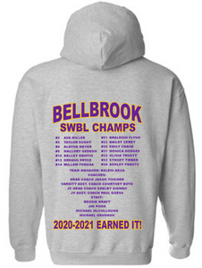 BHS Girls Basketball 2021 SWBL Champion Sport Grey Hoodie